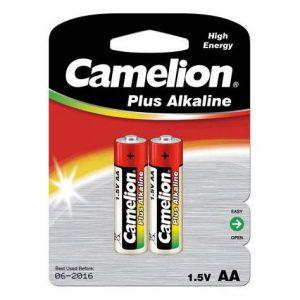 باتری قلمی کملیون آلکالاین مدل plus alkaline بسته 2 عددی