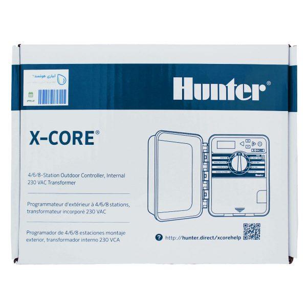 روی جعبه کنترلر آبیاری هانتر 4 ایستگاهه مدل XC-401-E